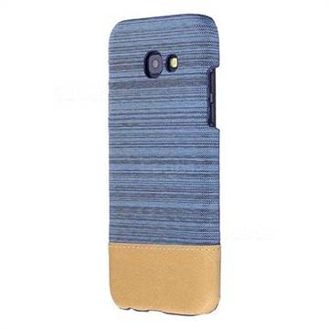 Canvas Cloth Coated Plastic Back Cover for Samsung Galaxy A3 2017 A320 - Light Blue