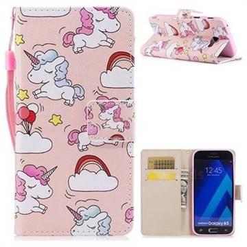 Rainbow Unicorn PU Leather Wallet Case for Samsung Galaxy A3 2017 A320