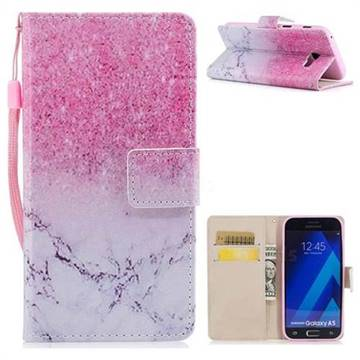 Marble Powder PU Leather Wallet Case for Samsung Galaxy A3 2017 A320