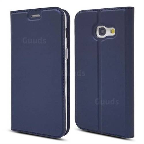 Ultra Slim Card Magnetic Automatic Suction Leather Wallet Case for Samsung Galaxy A3 2017 A320 - Royal Blue