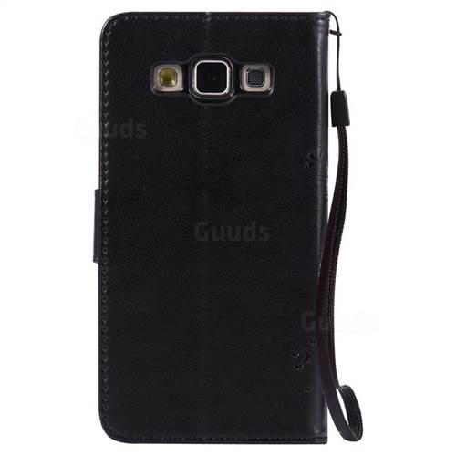 new products dfcdf 66204 Embossing Butterfly Tree Leather Wallet Case for Samsung Galaxy A5 A500 -  Black
