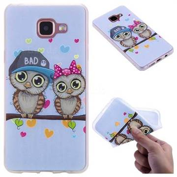 Couple Owls 3D Relief Matte Soft TPU Back Cover for Samsung Galaxy A5 2016 A510