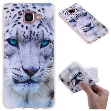 White Leopard 3D Relief Matte Soft TPU Back Cover for Samsung Galaxy A5 2016 A510