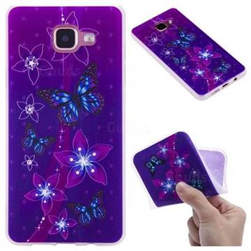 Butterfly Flowers 3D Relief Matte Soft TPU Back Cover for Samsung Galaxy A5 2016 A510