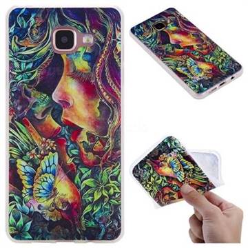 Butterfly Kiss 3D Relief Matte Soft TPU Back Cover for Samsung Galaxy A5 2016 A510