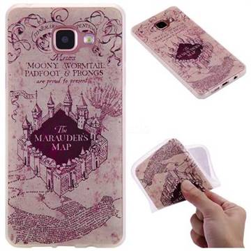 Castle The Marauders Map 3D Relief Matte Soft TPU Back Cover for Samsung Galaxy A5 2016 A510