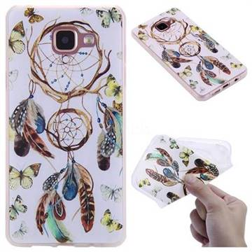 Color Wind Chimes 3D Relief Matte Soft TPU Back Cover for Samsung Galaxy A5 2016 A510