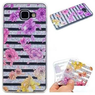 Striped Roses Super Clear Soft TPU Back Cover for Samsung Galaxy A5 2016 A510