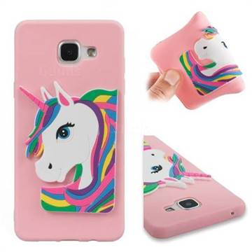 low cost bed25 b6262 Rainbow Unicorn Soft 3D Silicone Case for Samsung Galaxy A5 2016 A510 - Pink