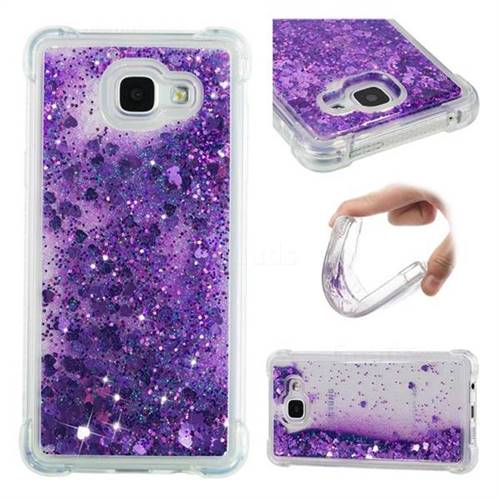 Dynamic Liquid Glitter Sand Quicksand Star TPU Case for Samsung Galaxy A5 2016 A510 - Purple
