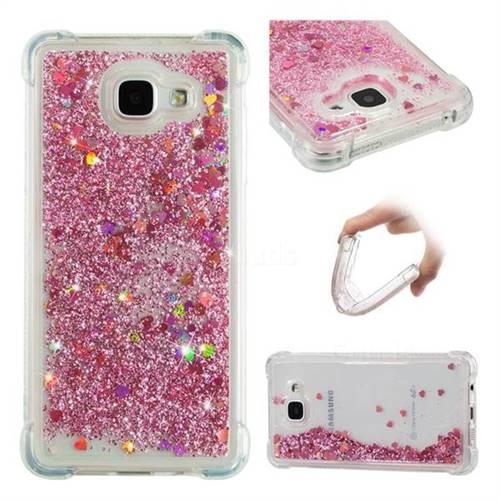 Dynamic Liquid Glitter Sand Quicksand Star TPU Case for Samsung Galaxy A5 2016 A510 - Diamond Rose