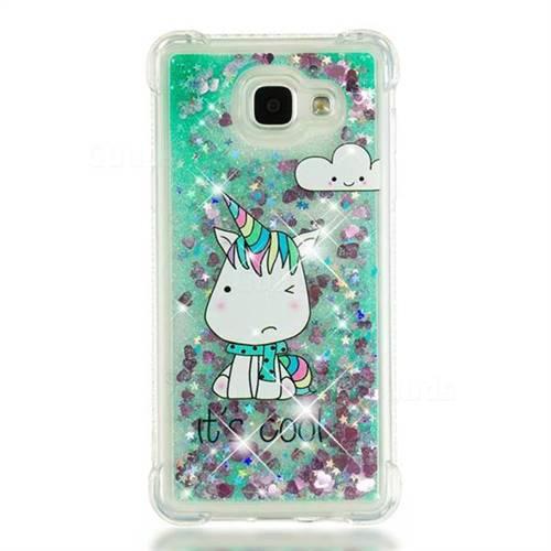 half off 1715f ec4e6 Tiny Unicorn Dynamic Liquid Glitter Sand Quicksand Star TPU Case for  Samsung Galaxy A5 2016 A510