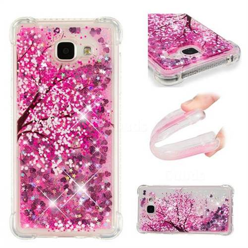Pink Cherry Blossom Dynamic Liquid Glitter Sand Quicksand Star TPU Case for Samsung Galaxy A5 2016 A510