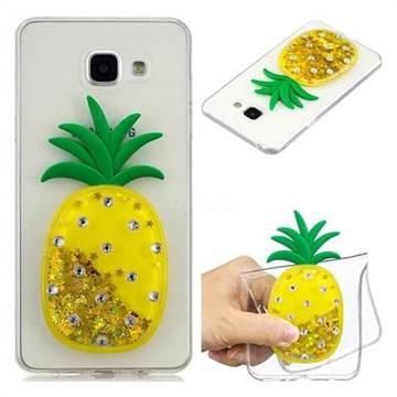 Gold Pineapple Liquid Quicksand Soft 3D Cartoon Case for Samsung Galaxy A5 2016 A510