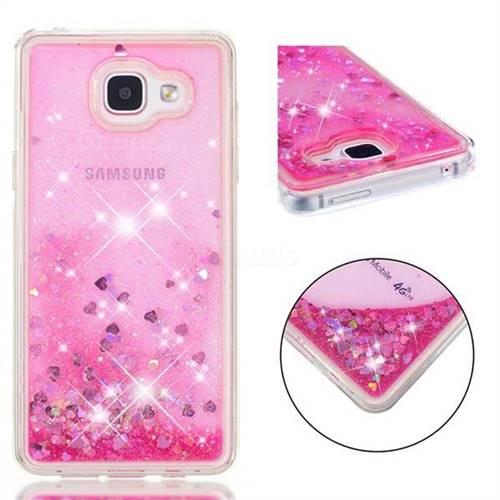 Dynamic Liquid Glitter Quicksand Sequins TPU Phone Case for Samsung Galaxy A5 2016 A510 - Rose