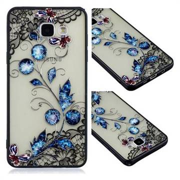 Butterfly Lace Diamond Flower Soft TPU Back Cover for Samsung Galaxy A5 2016 A510