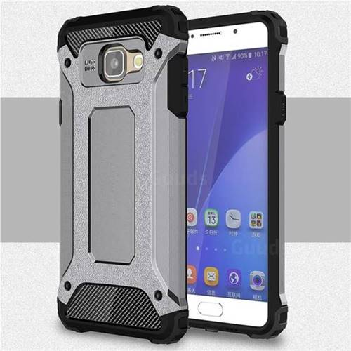 King Kong Armor Premium Shockproof Dual Layer Rugged Hard Cover for Samsung Galaxy A5 2016 A510 - Silver Grey