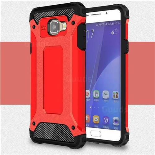 King Kong Armor Premium Shockproof Dual Layer Rugged Hard Cover for Samsung Galaxy A5 2016 A510 - Big Red