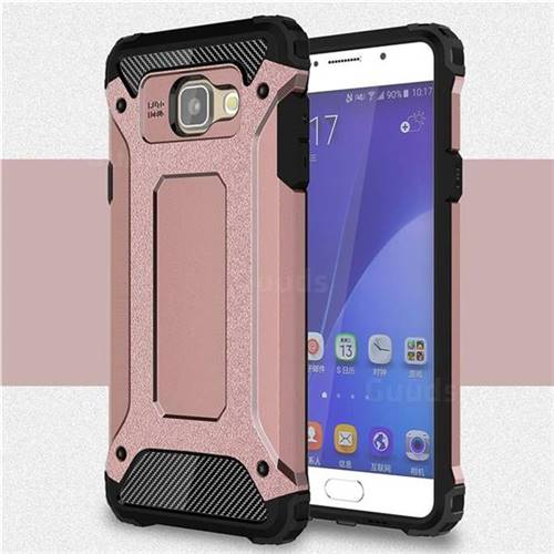 King Kong Armor Premium Shockproof Dual Layer Rugged Hard Cover for Samsung Galaxy A5 2016 A510 - Rose Gold