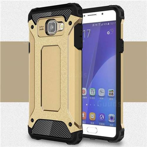 King Kong Armor Premium Shockproof Dual Layer Rugged Hard Cover for Samsung Galaxy A5 2016 A510 - Champagne Gold