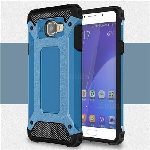 King Kong Armor Premium Shockproof Dual Layer Rugged Hard Cover for Samsung Galaxy A5 2016 A510 - Sky Blue