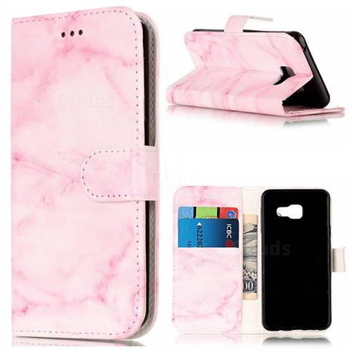 Pink Marble PU Leather Wallet Case for Samsung Galaxy A5 2016 A510