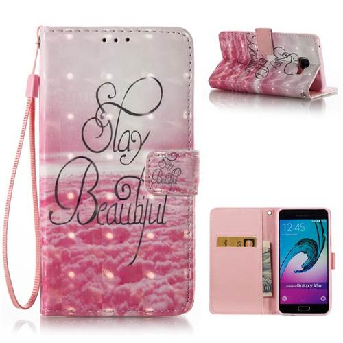 Beautiful 3D Painted Leather Wallet Case for Samsung Galaxy A5 2016 A510