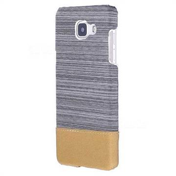 Canvas Cloth Coated Plastic Back Cover for Samsung Galaxy A5 2016 A510 - Light Grey