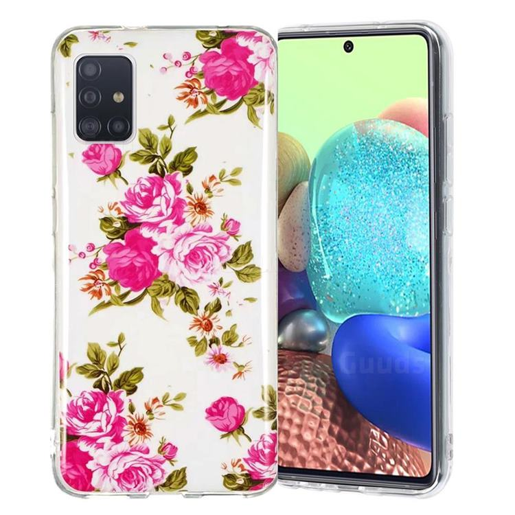 Peony Noctilucent Soft TPU Back Cover for Samsung Galaxy A51 5G