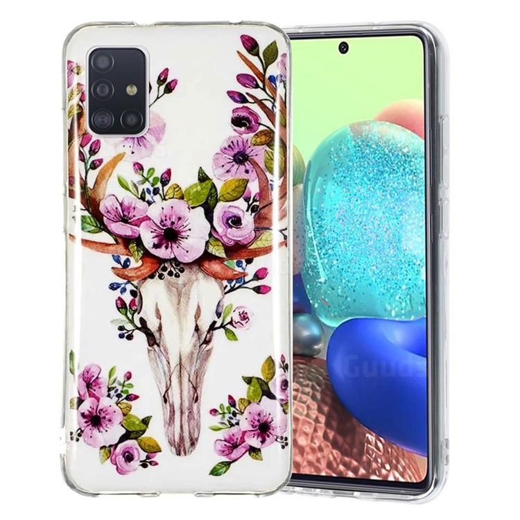 Sika Deer Noctilucent Soft TPU Back Cover for Samsung Galaxy A51 5G