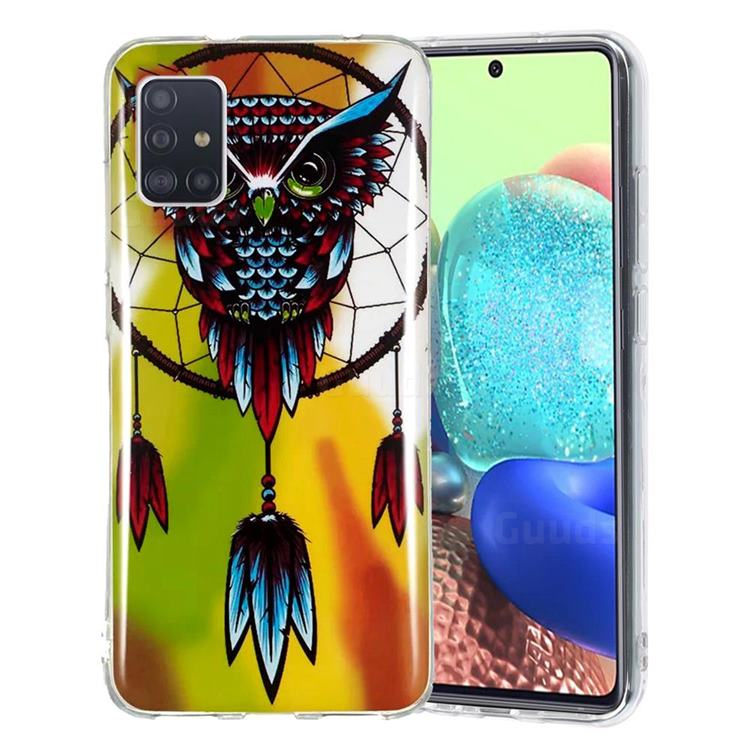 Owl Wind Chimes Noctilucent Soft TPU Back Cover for Samsung Galaxy A51 5G