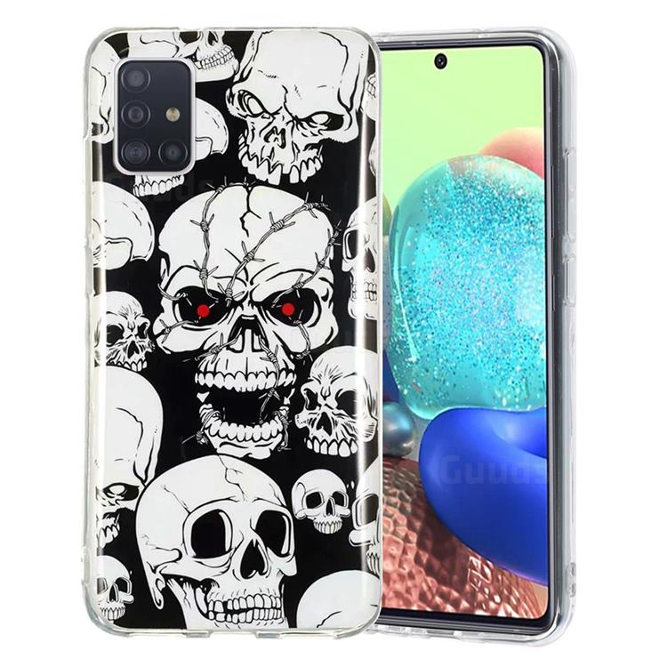 Red-eye Ghost Skull Noctilucent Soft TPU Back Cover for Samsung Galaxy A51 5G
