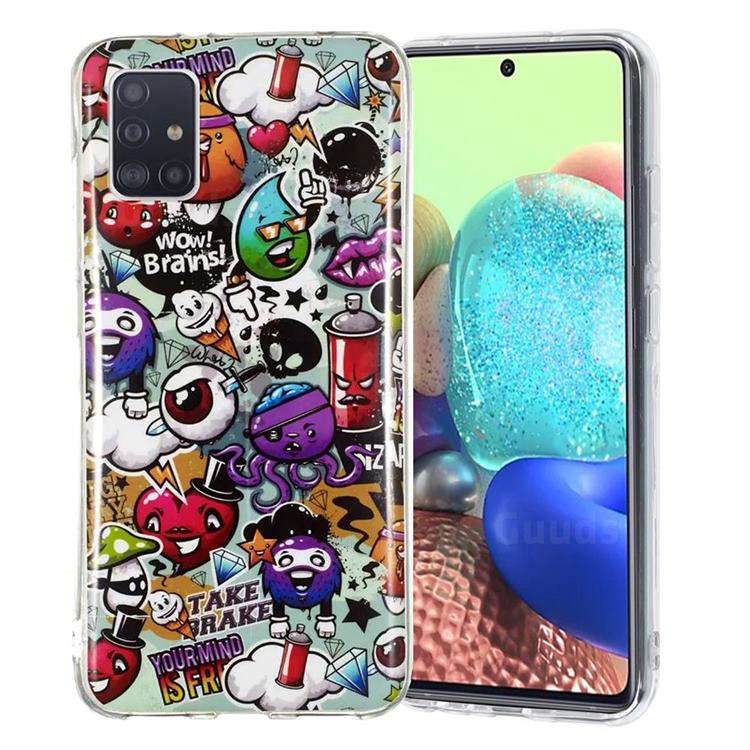 Trash Noctilucent Soft TPU Back Cover for Samsung Galaxy A51 5G