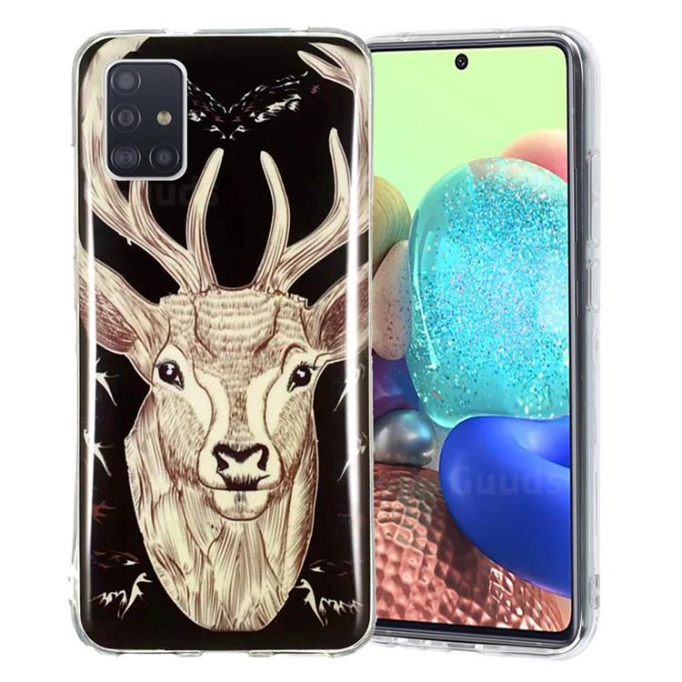 Fly Deer Noctilucent Soft TPU Back Cover for Samsung Galaxy A51 5G