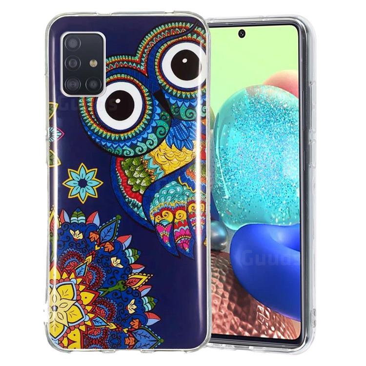 Tribe Owl Noctilucent Soft TPU Back Cover for Samsung Galaxy A51 5G