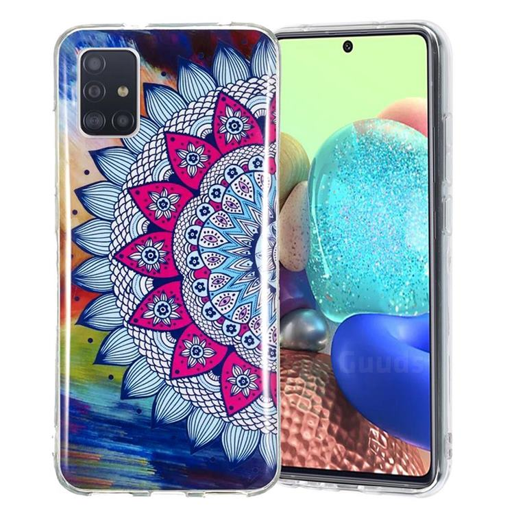 Colorful Sun Flower Noctilucent Soft TPU Back Cover for Samsung Galaxy A51 5G