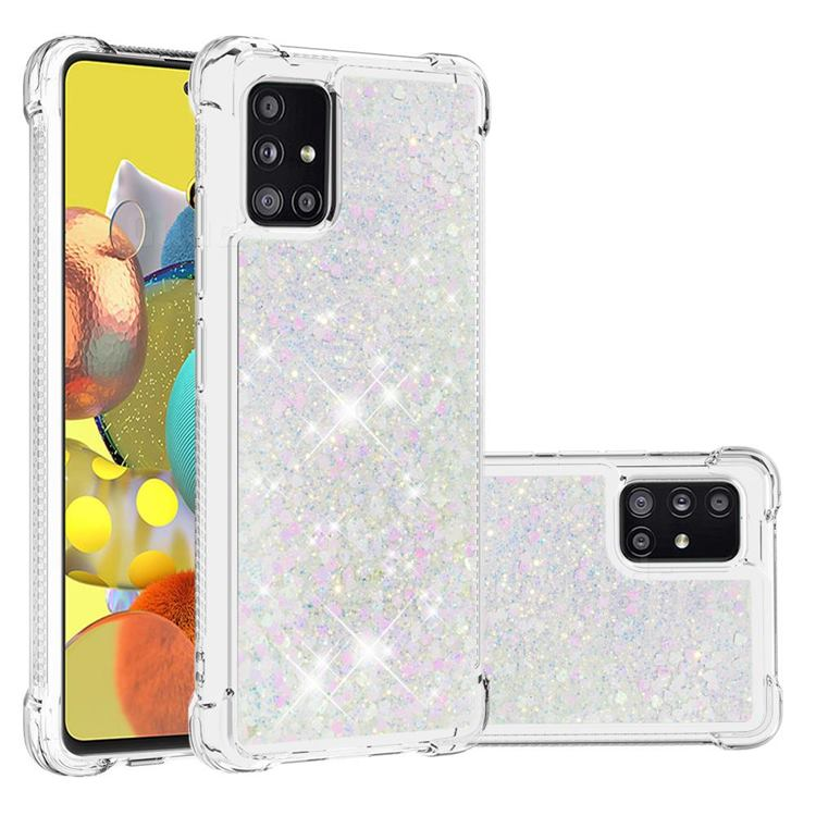 Dynamic Liquid Glitter Sand Quicksand Star TPU Case for Samsung Galaxy A51 5G - Pink