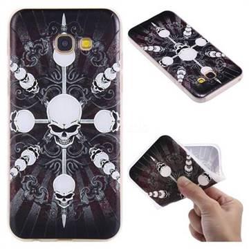 Compass Skulls 3D Relief Matte Soft TPU Back Cover for Samsung Galaxy A5 2017 A520