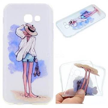 Beach Girl Super Clear Soft TPU Back Cover for Samsung Galaxy A5 2017 A520
