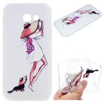 Pet Girl Super Clear Soft TPU Back Cover for Samsung Galaxy A5 2017 A520
