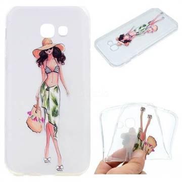 Bikini Girl Super Clear Soft TPU Back Cover for Samsung Galaxy A5 2017 A520