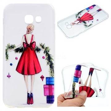 Christmas Girl Super Clear Soft TPU Back Cover for Samsung Galaxy A5 2017 A520