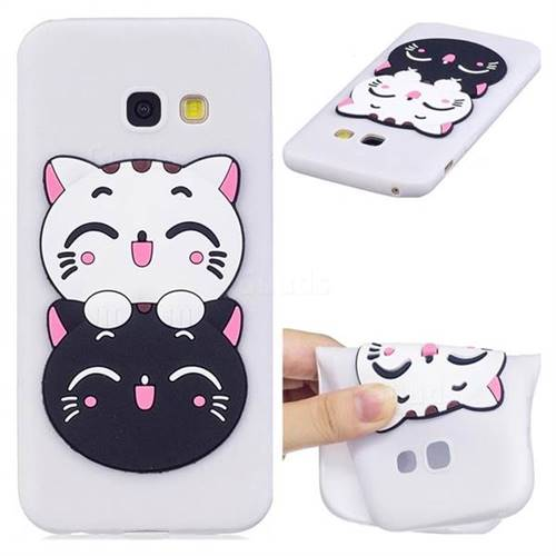 Couple Cats Soft 3D Silicone Case for Samsung Galaxy A5 2017 A520