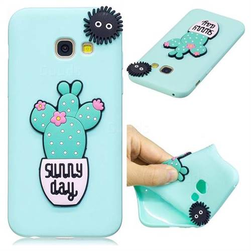 Cactus Flower Soft 3D Silicone Case for Samsung Galaxy A5 2017 A520