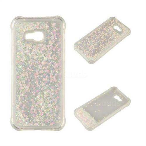 Dynamic Liquid Glitter Sand Quicksand Star TPU Case for Samsung Galaxy A5 2017 A520 - Pink