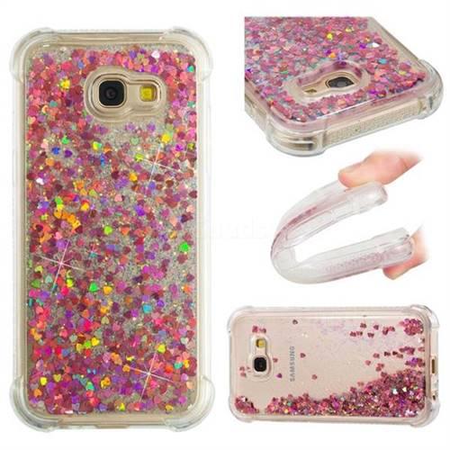 Dynamic Liquid Glitter Sand Quicksand TPU Case for Samsung Galaxy A5 2017 A520 - Rose Gold Love Heart