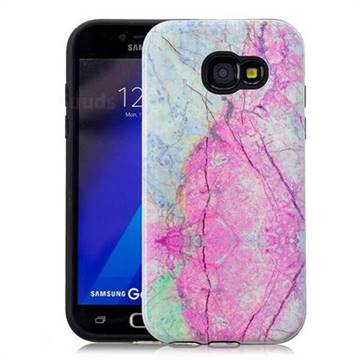 Pink Marble Pattern 2 in 1 PC + TPU Glossy Embossed Back Cover for Samsung Galaxy A5 2017 A520