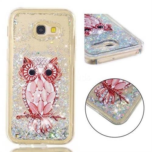 Seashell Owl Dynamic Liquid Glitter Quicksand Soft TPU Case for Samsung Galaxy A5 2017 A520
