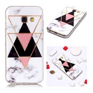 best loved a6152 52cb6 Inverted Triangle Black Soft TPU Marble Pattern Phone Case for Samsung  Galaxy A5 2017 A520