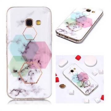 sports shoes 298bb 9942f Hexagonal Soft TPU Marble Pattern Phone Case for Samsung Galaxy A5 2017 A520